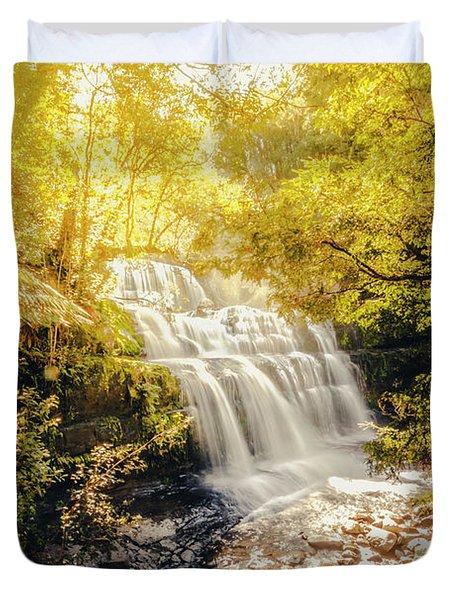 Water In Fall Duvet Cover