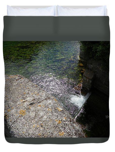 Water In The Stone Duvet Cover