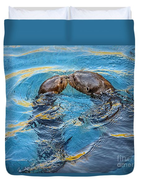 Water Kisses Duvet Cover by Jamie Pham
