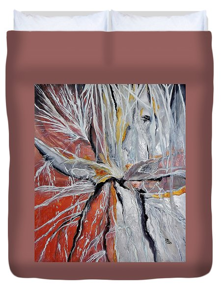 Water Leaks Duvet Cover by Raymond Perez