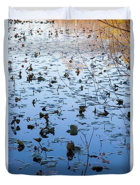 Water Lilies Autumn Song Duvet Cover