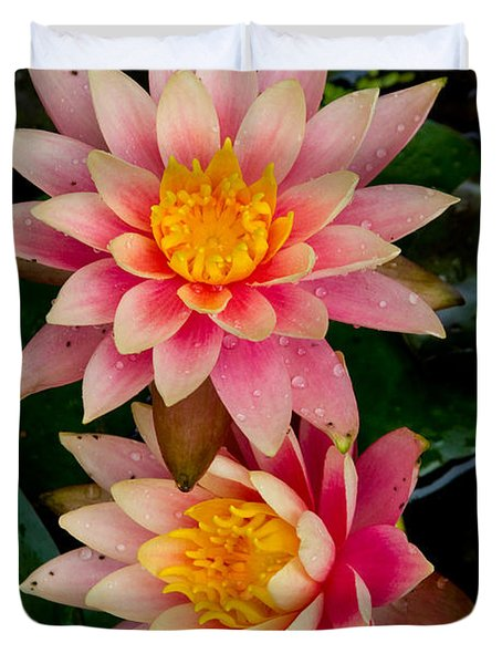 Duvet Cover featuring the photograph Water Lilies by Brent L Ander