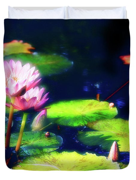 Duvet Cover featuring the photograph Water Lilies by Harry Spitz