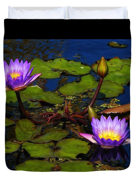 Water Lilies Iv Duvet Cover