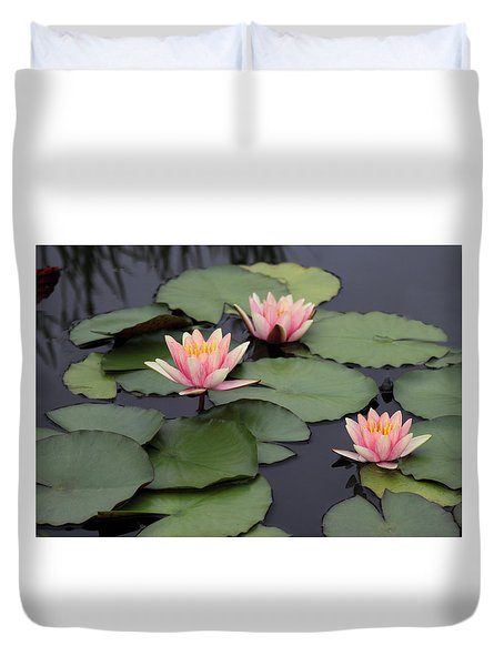Duvet Cover featuring the photograph Water Lilies by Jessica Jenney