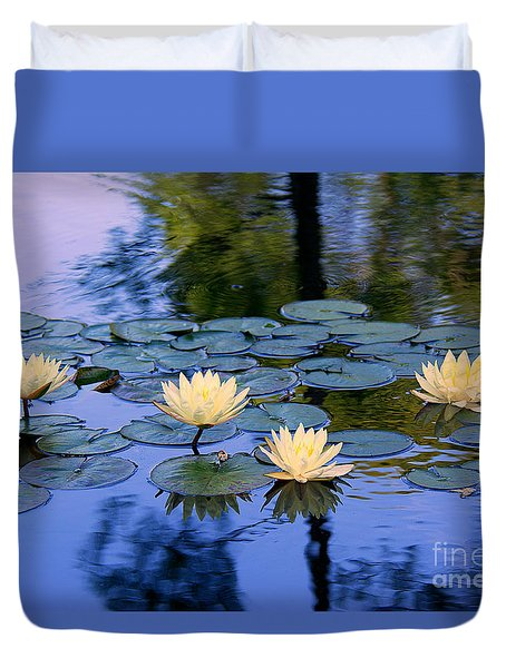 Duvet Cover featuring the photograph Water Lilies by Lisa L Silva