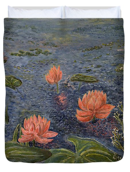Water Lilies Lounge Duvet Cover