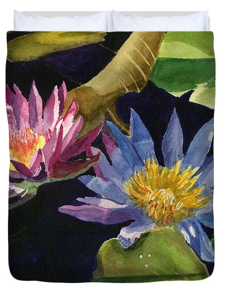 Water Lilies Duvet Cover by Lynne Reichhart