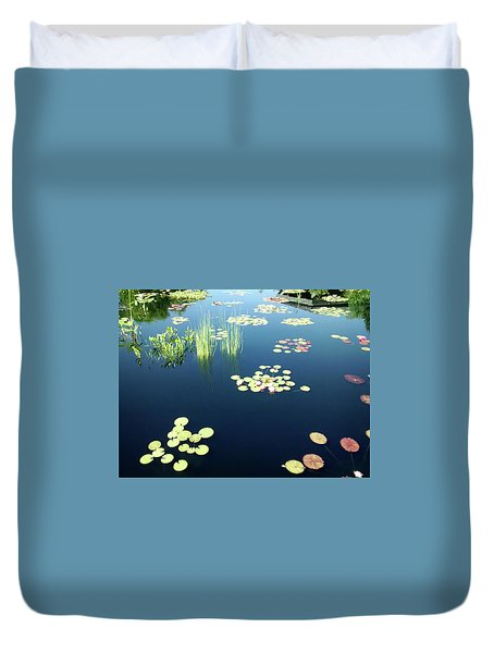 Duvet Cover featuring the photograph Water Lilies by Marilyn Hunt