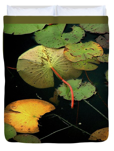 Water Lilies No 2 Vertical Duvet Cover
