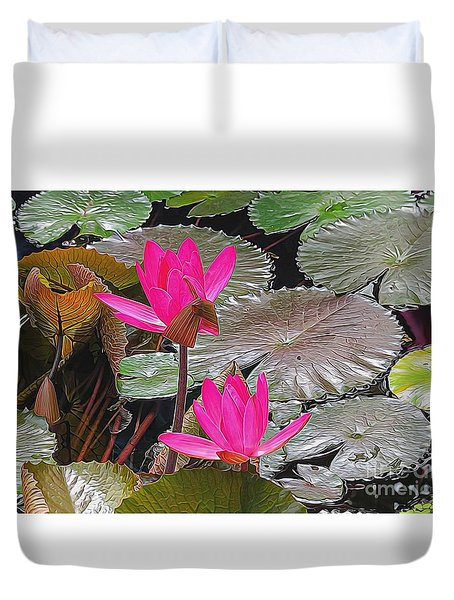 Water Lilies Duvet Cover by Suzanne Handel
