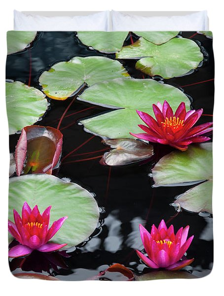 Water Lillies In Longwood Gardens Chester County Pa Duvet Cover