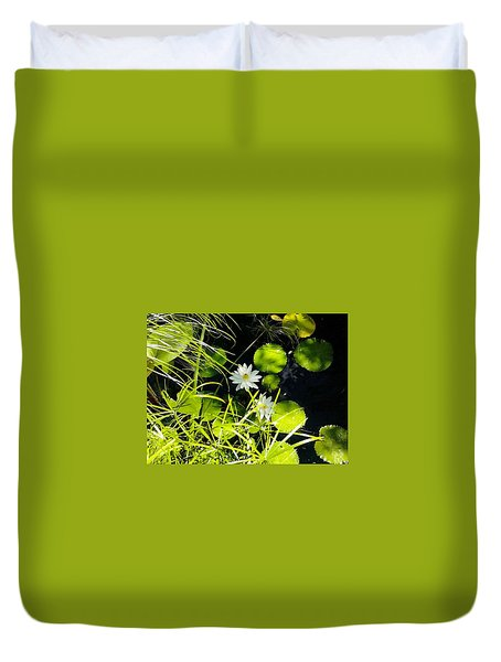 Water Lillies Duvet Cover by John Parry
