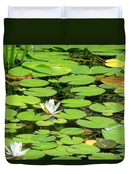 Water Lillies Duvet Cover
