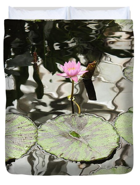 Water Lily Canvas Duvet Cover by Carol Groenen