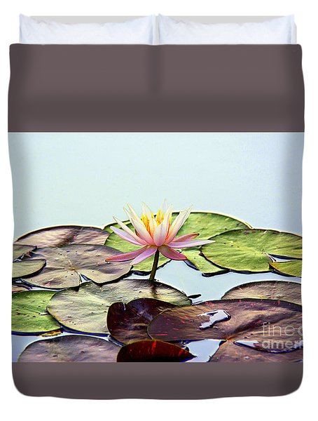 Duvet Cover featuring the photograph Water Lily Dream by Lisa L Silva