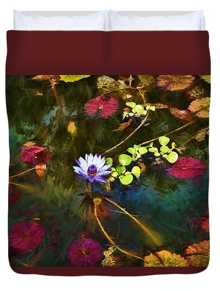 Water Lily Dreams Duvet Cover by Terry Cork