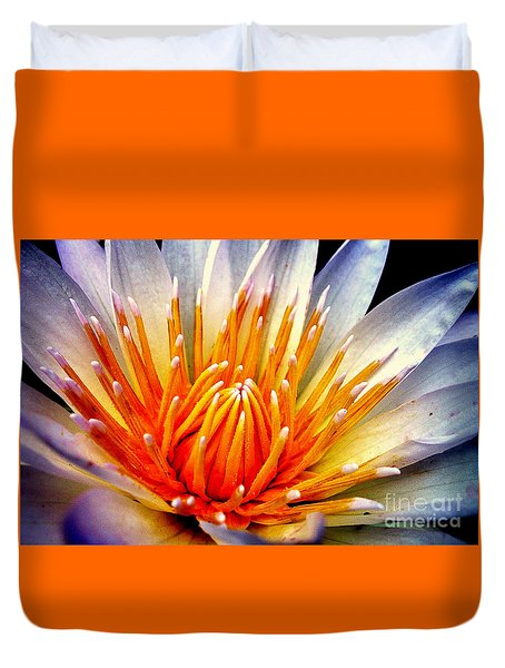 Water Lily Flower Duvet Cover