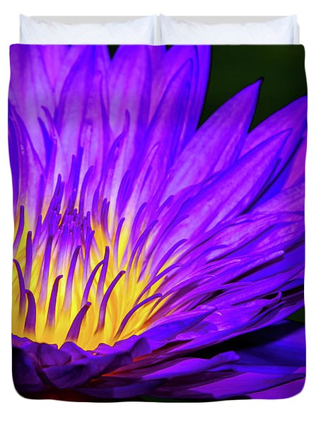 Water Lily Glow Duvet Cover