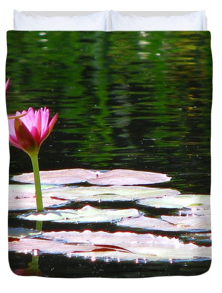 Duvet Cover featuring the photograph Water Lily by Greg Patzer