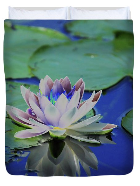 Water Lily  Duvet Cover by Karol Livote