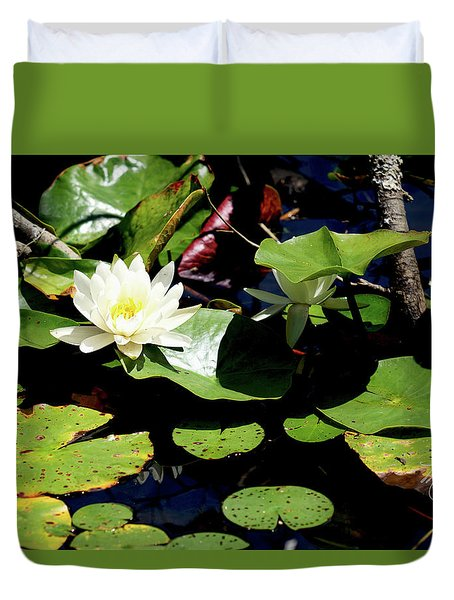 Duvet Cover featuring the photograph Water Lily by Meta Gatschenberger