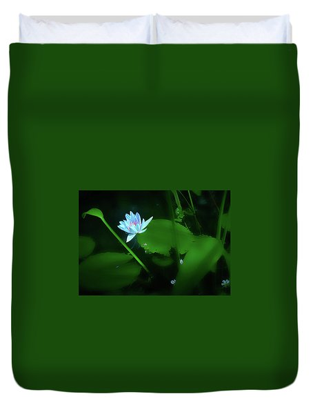 Water Lily N Pond Duvet Cover
