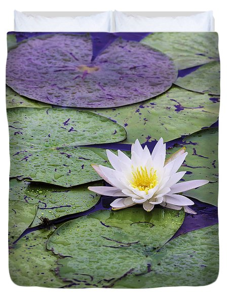 Water Lily Panorama Duvet Cover