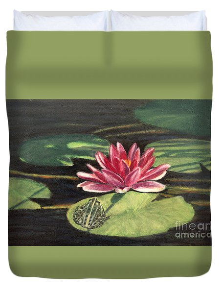 Water Lily Patio Duvet Cover
