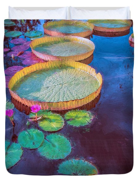 Water Lily Pattern Duvet Cover