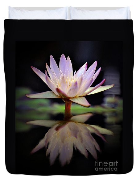 Duvet Cover featuring the photograph Water Lily by Savannah Gibbs
