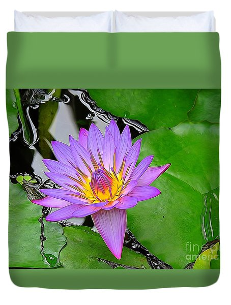 Water Lily Two Duvet Cover
