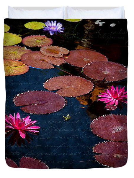 Water Lily World Duvet Cover