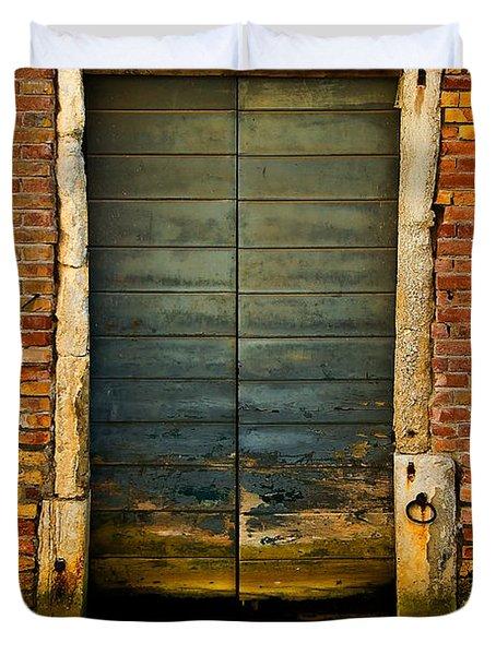 Water-logged Door Duvet Cover