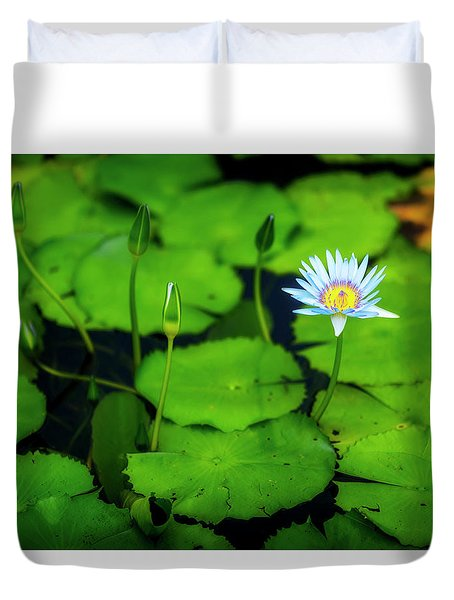 Duvet Cover featuring the photograph Water Logged by Ryan Manuel