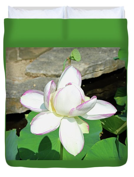 Water Lotus Duvet Cover