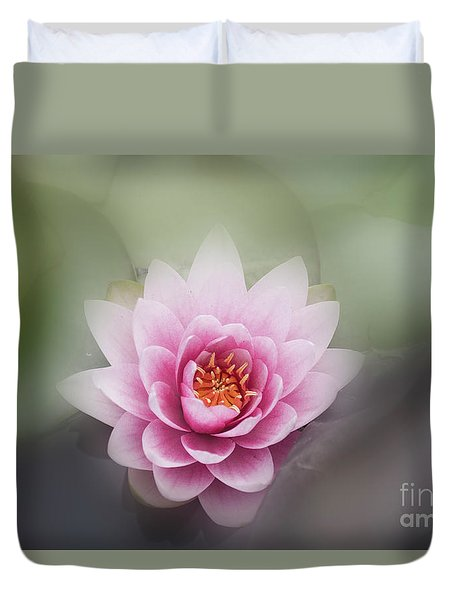 Water Lotus Flower Duvet Cover by Elaine Teague