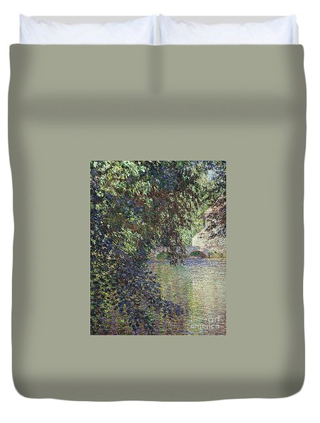 Water Mill At Limetz Duvet Cover