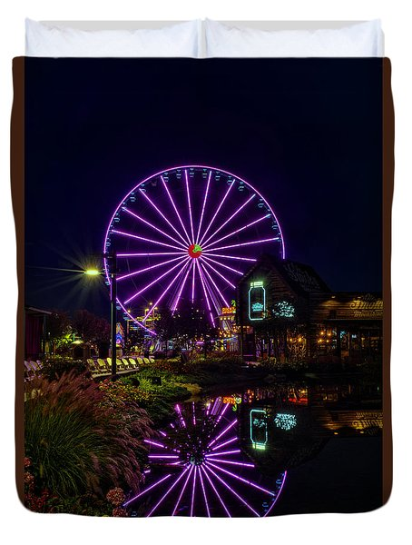Water Moonshine And A Big Wheel Duvet Cover by Greg Mimbs