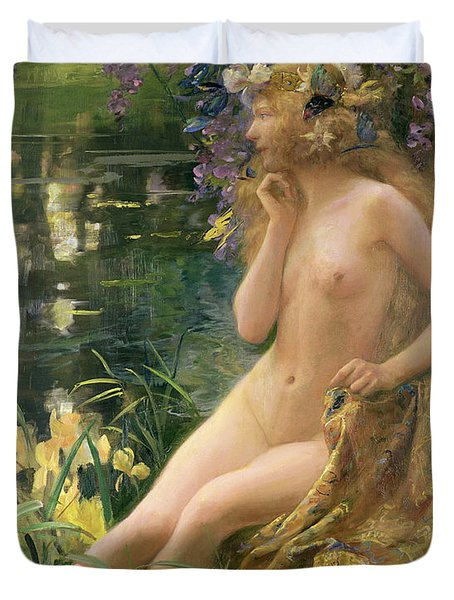 Water Nymph Duvet Cover by Gaston Bussiere