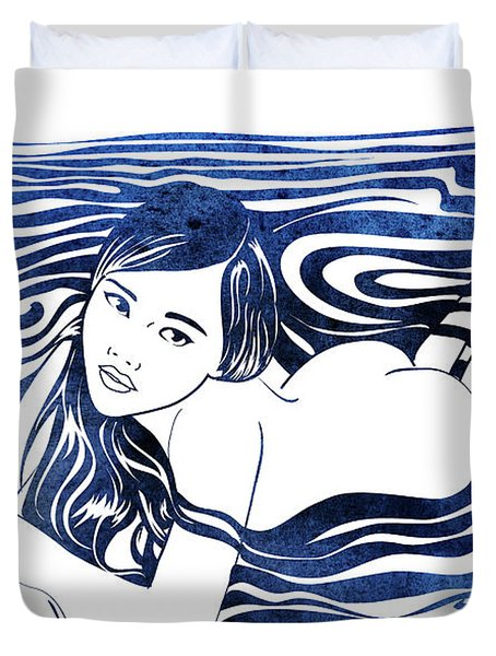 Water Nymph V Duvet Cover