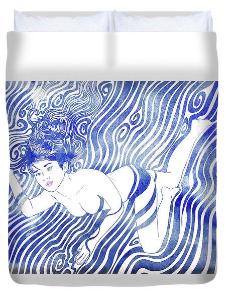 Water Nymph Xvii Duvet Cover