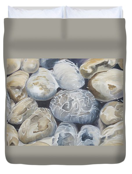 Water Of Pebbles Duvet Cover
