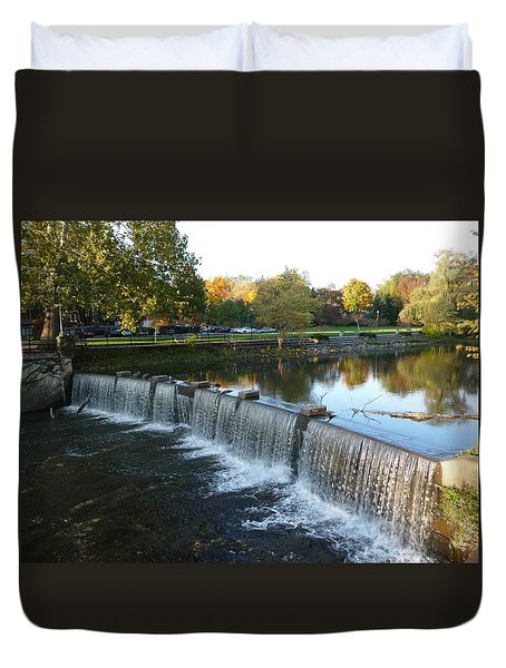 Water Over The Dam Duvet Cover by Joel Deutsch