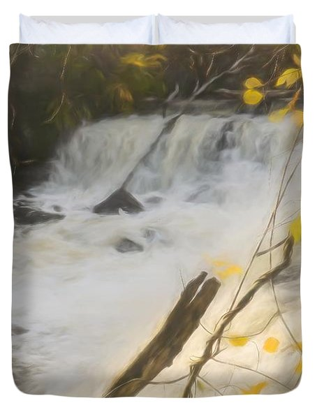 Water Over The Dam. Duvet Cover