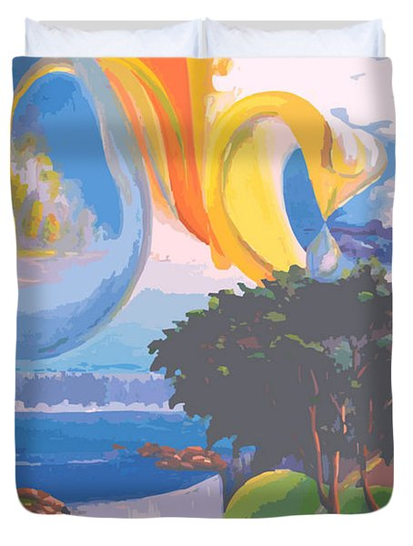 Water Planet Series - Vetor Version Duvet Cover by Leomariano artist BRASIL