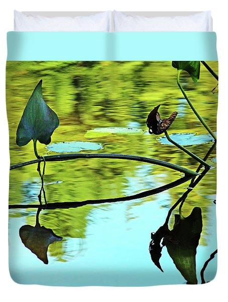 Water Plants Duvet Cover by Debbie Oppermann