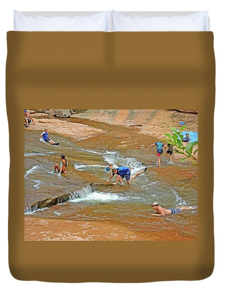 Water Play 3 Duvet Cover