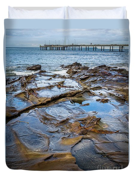 Duvet Cover featuring the photograph Water Pool by Perry Webster