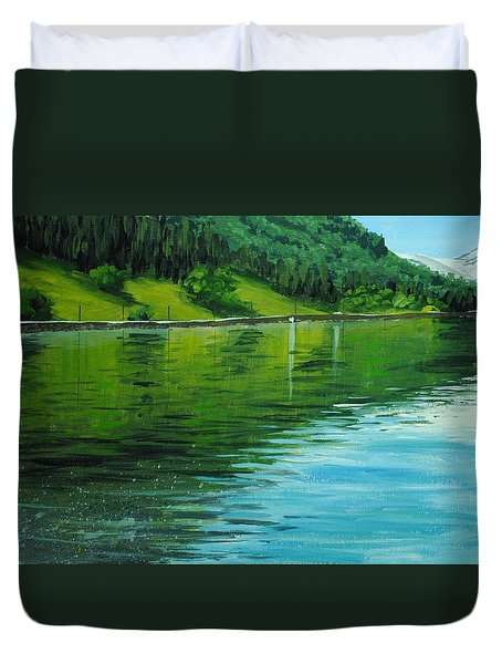 Water Reflections Duvet Cover by Nolan Clark